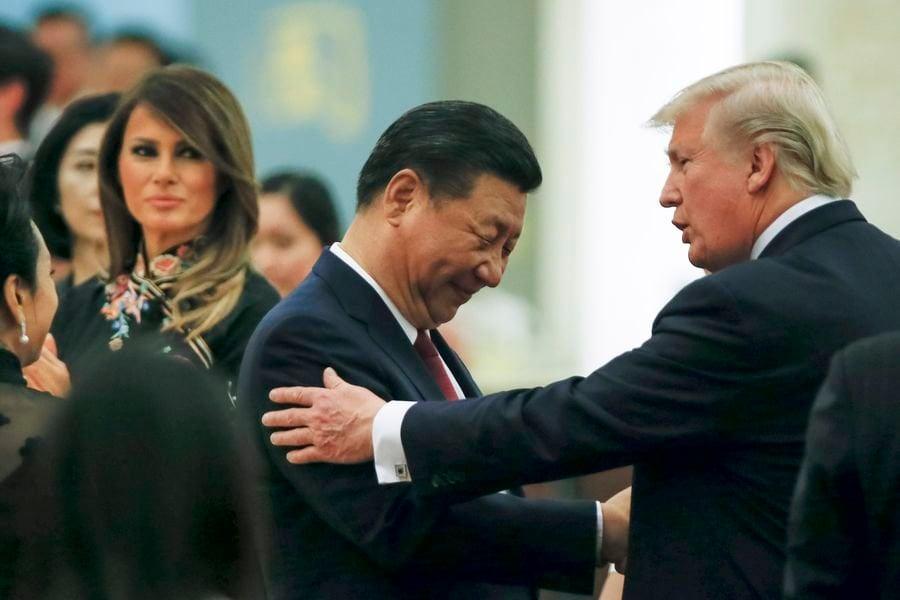 3月31日美國國務院發言人摩根•奧特加斯(Morgan Ortagus)透露,習近平上周向特朗普承諾,將遏制虛假信息宣的傳播。(Thomas Peter – Pool/Getty Images)