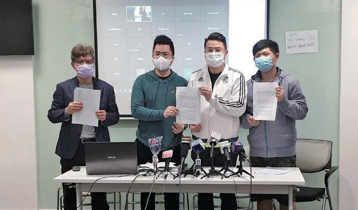 夾公仔機業界代表要求政府支援全香港400多間夾公仔機店。(肖龍/大紀元)