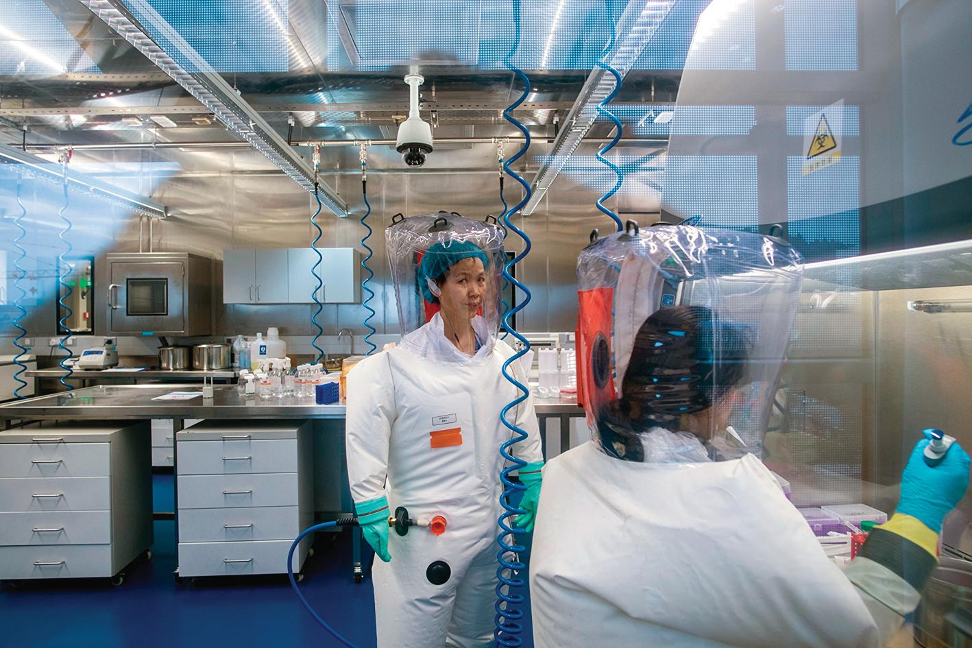 武漢P4實驗室。(Getty Images)