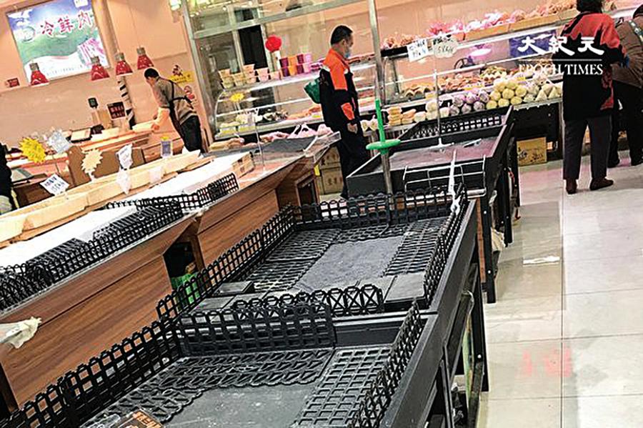 憂疫情再爆發  北京市民搶購糧食