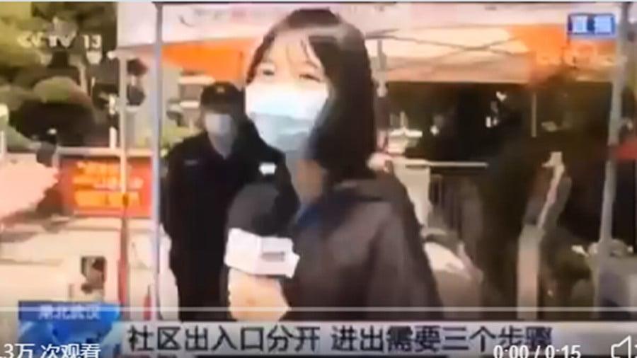 央視記者採訪社區 測體溫竟高燒40度