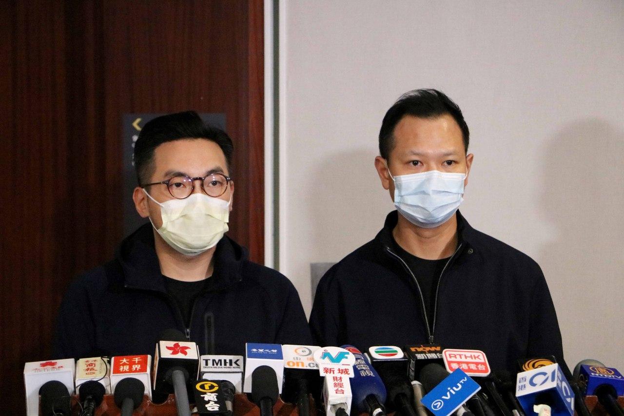 公民黨黨魁楊岳橋(左)及法律界立法會議員郭榮鏗。(公民黨提供)