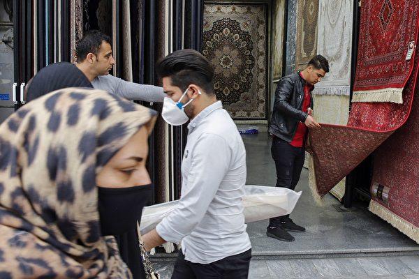 2020年3月18日,疫情下的伊朗民眾。(AFP)