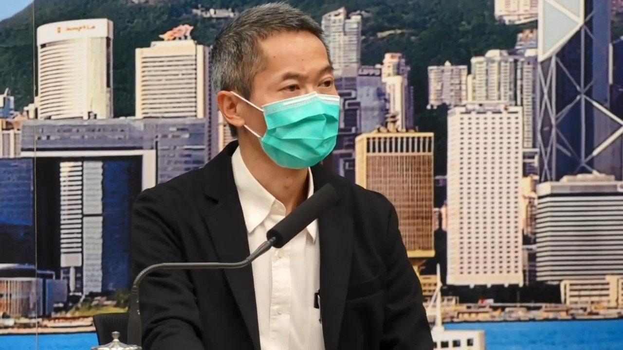 衛生防護中心總監黃加慶,就中心日前誤將一名確診者的父親送院,向患者及其家人致歉。(肖龍/大紀元)