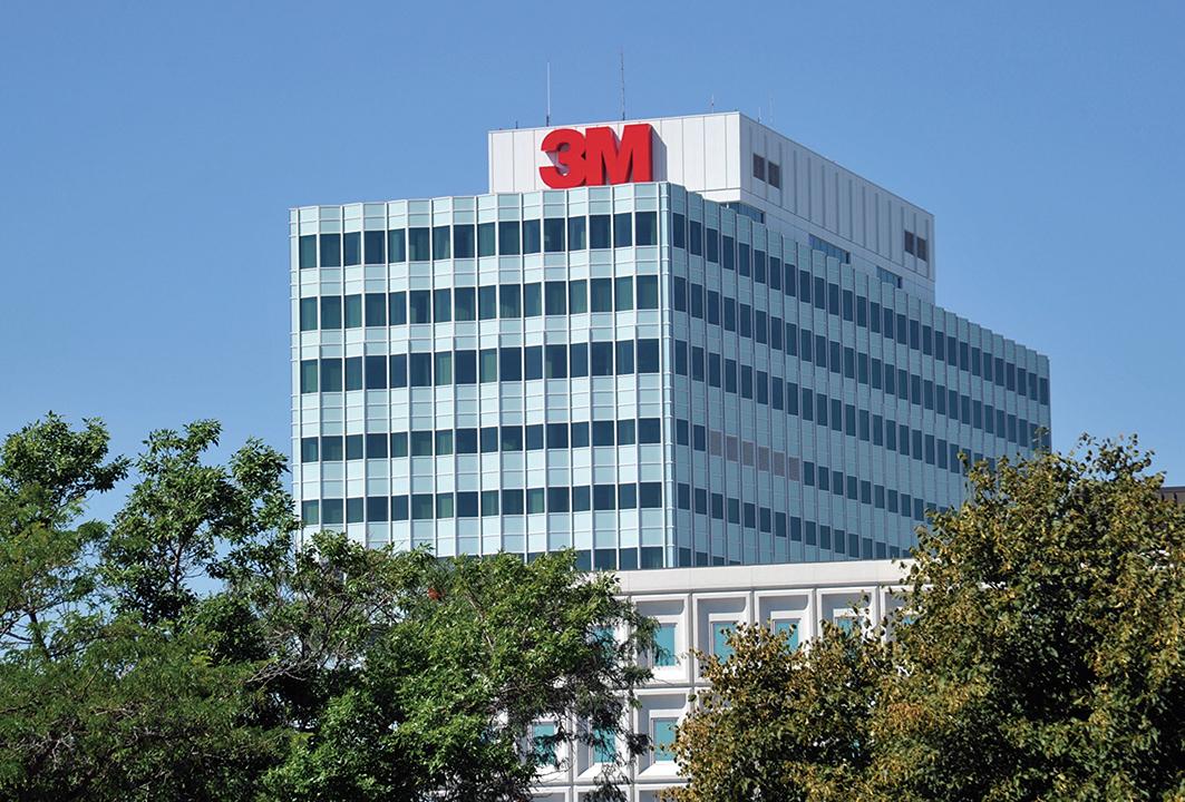 圖為美國醫療企業3M位於明尼蘇達州的總部大樓。(AFP)