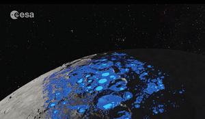 ESA公佈月球水資源分佈圖
