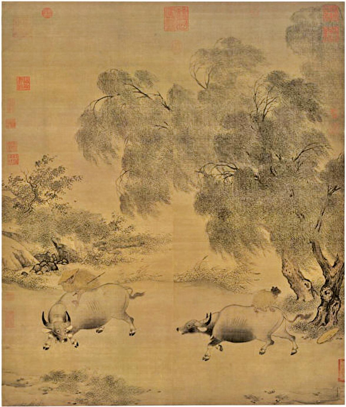 南宋李迪繪《風雨牧歸圖》(Ismoon/Wikimedia commons)