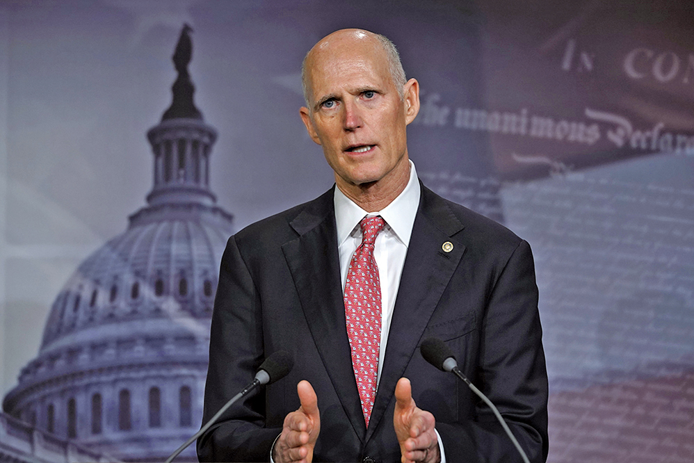 4月6日,美國參議院議員斯科特(Rick Scott)表示,國會必須對WHO進行調查。(Getty Images)