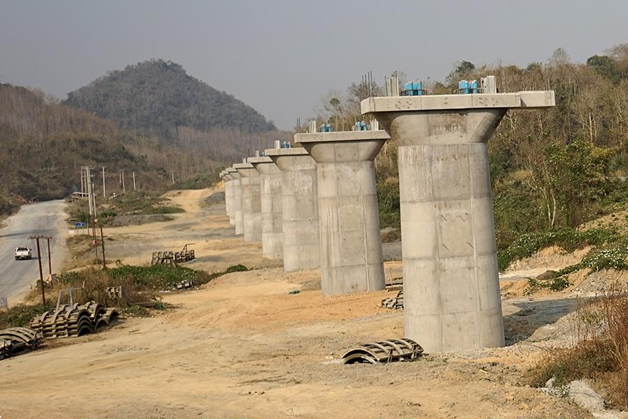 連接中國和老撾的「一帶一路」工程。(Aidan JONES/AFPvia Getty Images)