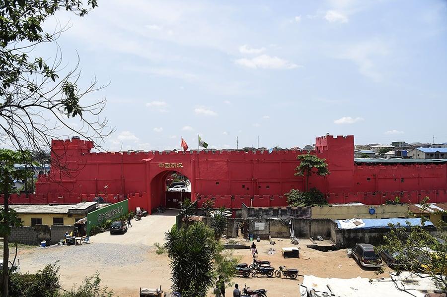 中國商城進駐尼日利亞的奧約塔。(PIUS UTOMI EKPEI / AFPvia Getty Images)