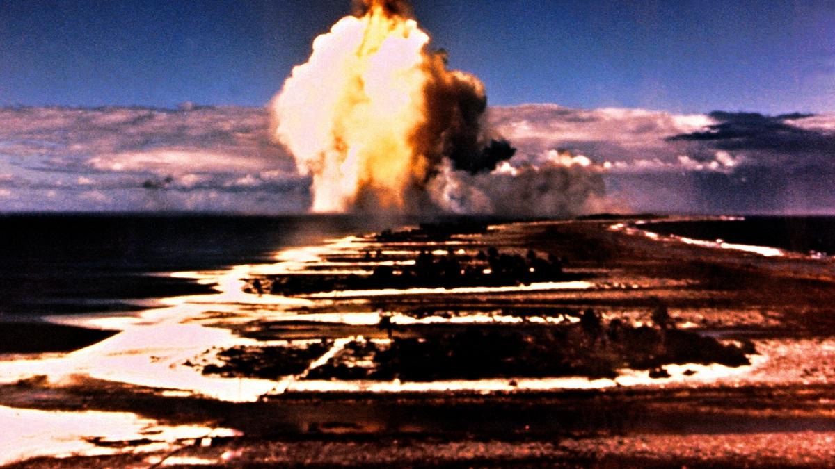 圖為核彈爆炸的示意圖。(AFP via Getty Images)