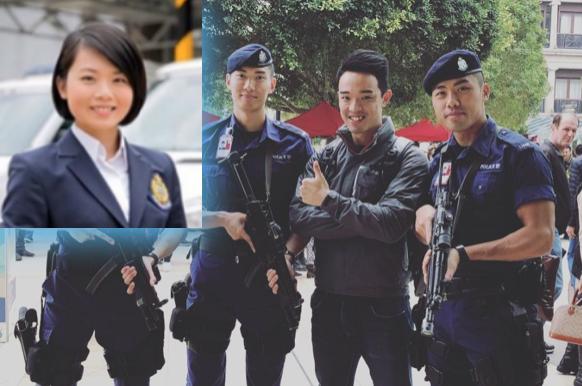 (左)被調離的《警訊》主持人梁皓妤。(右二)新主持人張繼安。(網路資料)