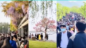 疫情未除 清明節杭州幾萬人暢游西湖 悠哉憂哉