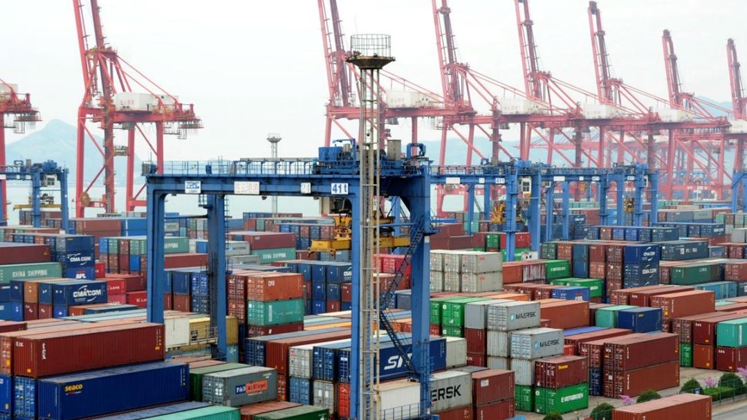 中共商務部官員10日說,外貿面臨非常嚴峻的形勢,下一步將全力以赴穩住外貿外資基本盤。示意圖((VCG/VCG via Getty Images)