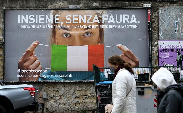 2020年3月21日是意大利與中共簽訂一帶一路合作協議一週年。因瘟疫,總理孔特宣佈全國停止非必須的工業生產和商業活動。 (Photo by CARLO HERMANN/AFP via Getty Images)
