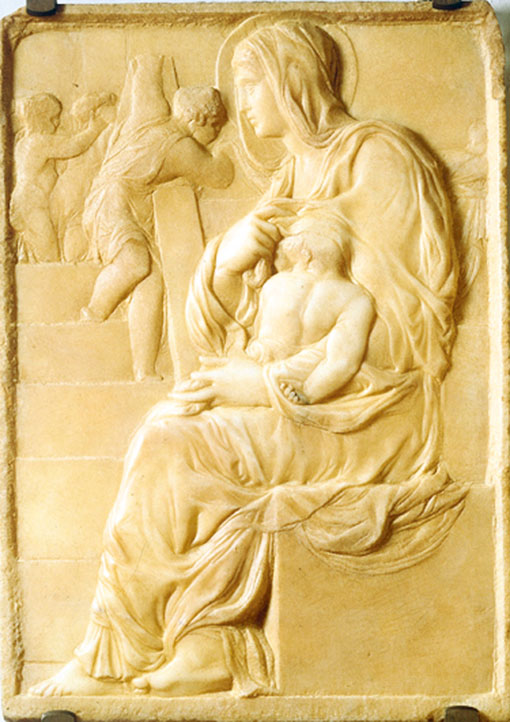 淺浮雕《樓梯旁的聖母》。(Alonso de Mendoza/Wikimedia commons)