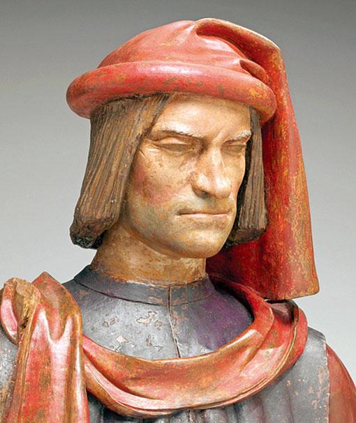 維洛其奧工作坊所塑造的《華麗的羅倫佐》胸像。(Chiorbone da Frittole/Wikimedia commons)