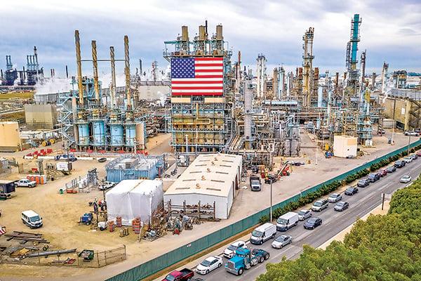 加州馬拉松煉油廠(Marathon Refinery)。(AFP)
