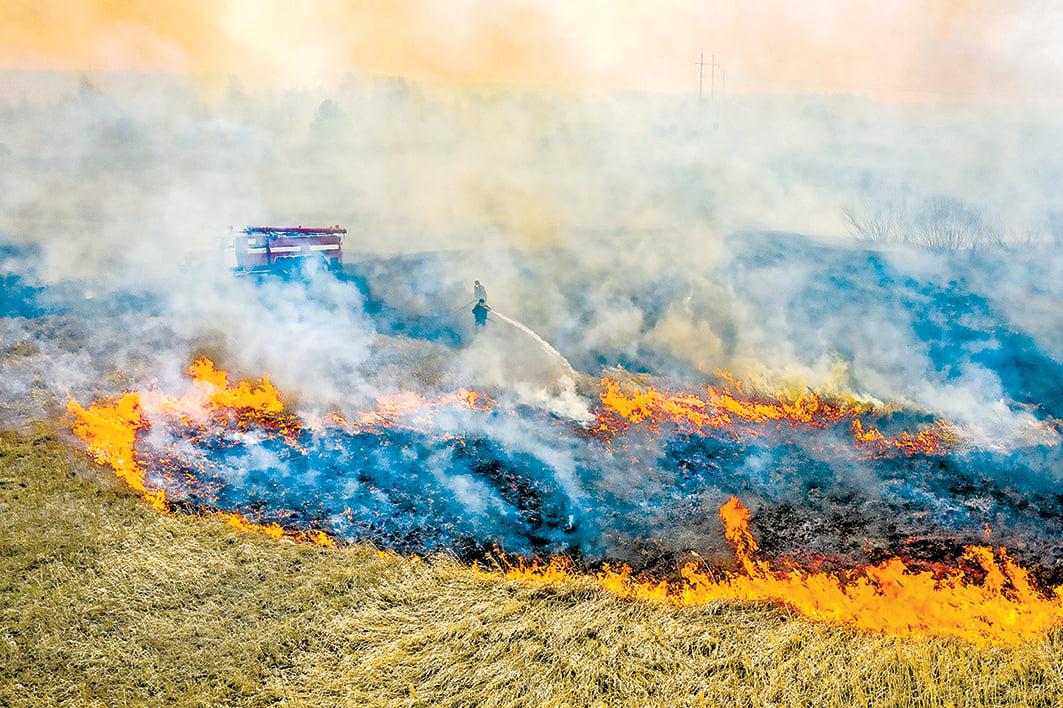 烏克蘭北部大火連燒10天,距離曾發生特大核電事故的廢棄切爾諾貝爾核電廠僅數公里。(Getty Images)