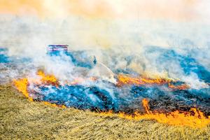 烏克蘭森林大火 逼近廢棄核電廠