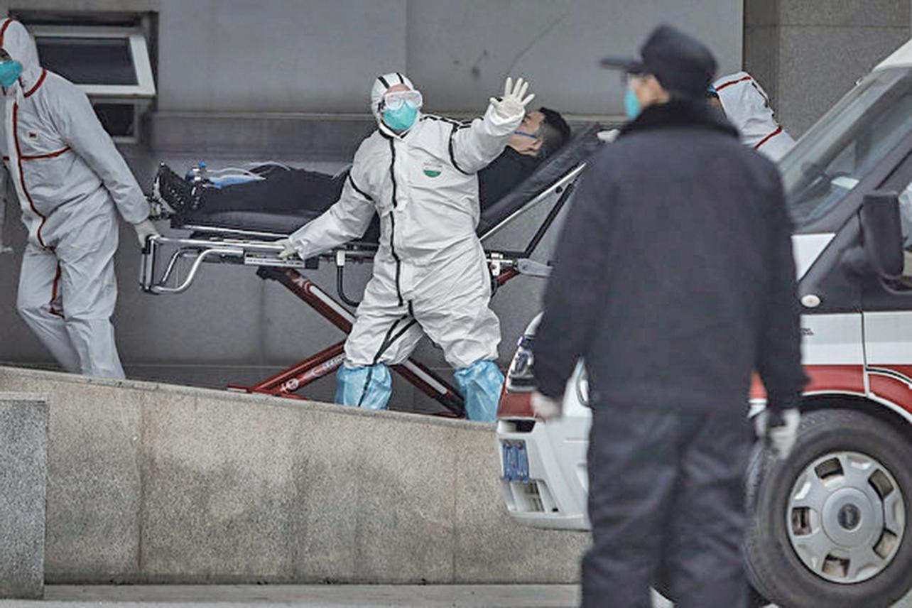 圖為武漢金銀潭醫院。(CHINA OUT/Getty Images)