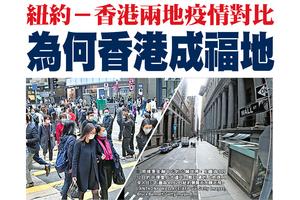 紐約-香港兩地疫情對比 為何香港成福地