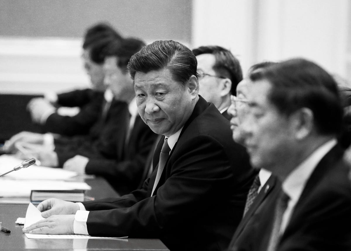 圖為2020年1月18日中共國家主席習近平出訪緬甸期間出席會議資料照。(NYEIN CHAN NAING/POOL/AFP via Getty Images)