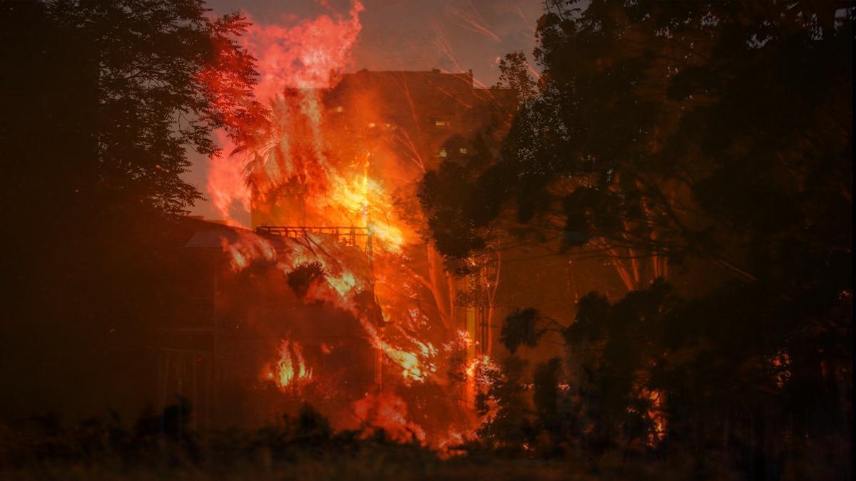 大陸工廠失火 示意圖(CLAUDIO REYES/AFP via Getty Images)