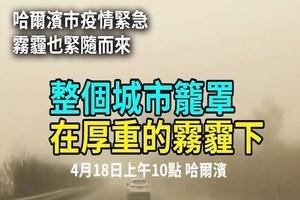 【現場影片】疫情下的哈爾濱 霧霾紅色預警