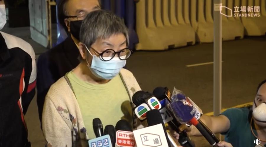 72歲人生首次被捕  吳靄儀:堅持捍衛法治平等