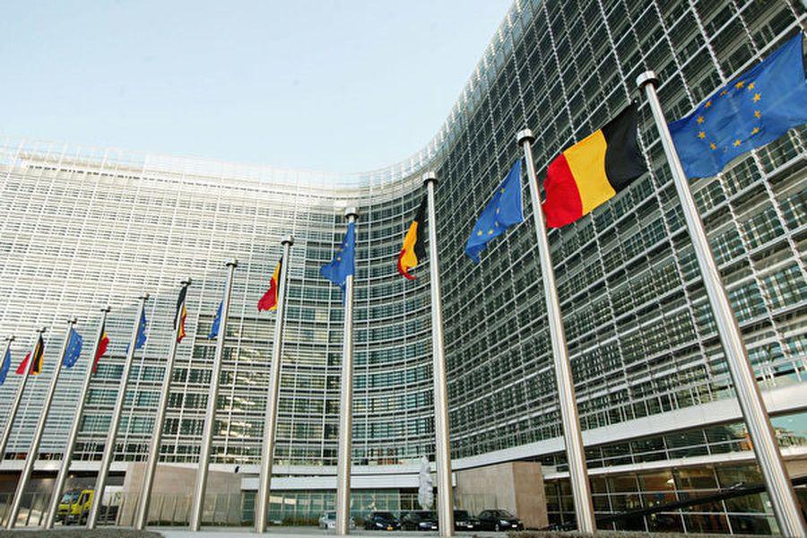 位於比利時布魯塞爾歐盟總部大樓。(Mark Renders/Getty Images)