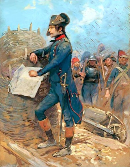 土納河畔波拿巴(Bonaparte ausiegede Toulon),阿米爾博物館藏。(公有領域)