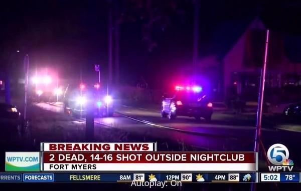 7月25日凌晨,美國佛羅里達州邁爾斯堡(Fort Myers)一家夜店驚傳發生槍手事件,已知至少2人喪命,十多人受傷。(視頻擷圖)