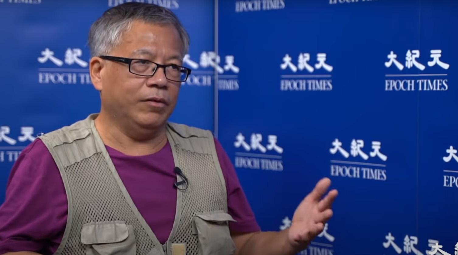 「香港化學教父」前香港中文大學講師鄺士山。(採訪影片截圖)