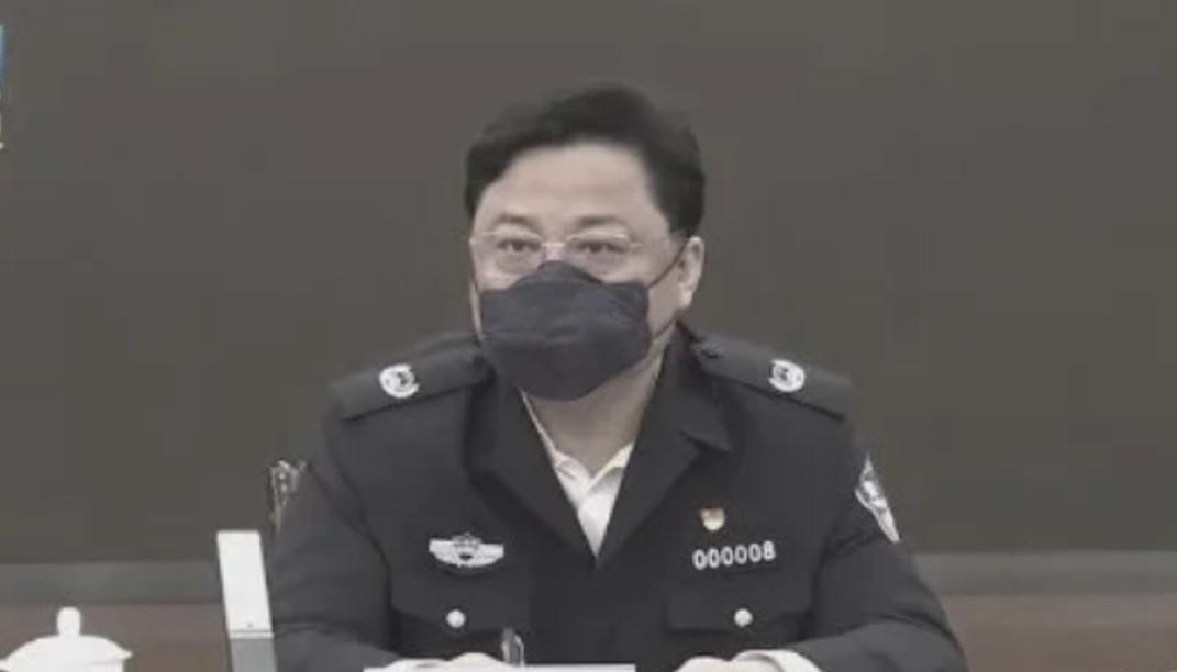 4月19日傍晚,中共公安部副部長、前610辦公室副主任孫力軍落馬。(視頻截圖)