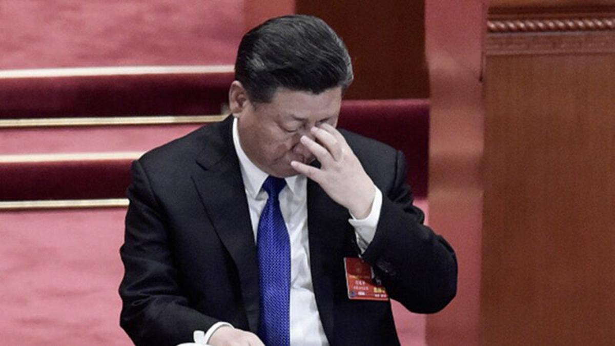 網傳習近平常委會講話,罕見承認中共面臨「最危險結果」。( FRED DUFOUR/AFP/Getty Images)