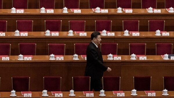 網上流傳出習近平在8日的中共政治局常委會議的講話,談到任志強、反習勢力,以及80國聯軍的問題。圖為習近平資料圖片。( Kevin Frayer/Getty Images)