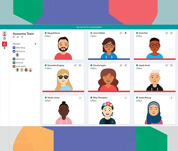 與在線視頻會議軟件不同,Pragli提供了可視化虛擬辦公室。(Pragli)
