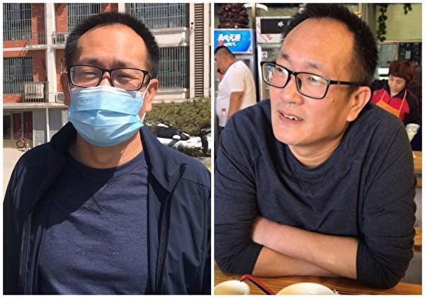 20日,謝陽律師專程從長沙前往濟南看望王全璋(如圖)。(推特)