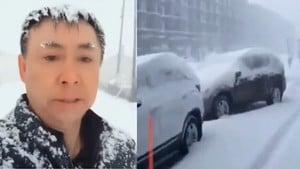 天呈異象:黑龍江早春暴雪還打雷