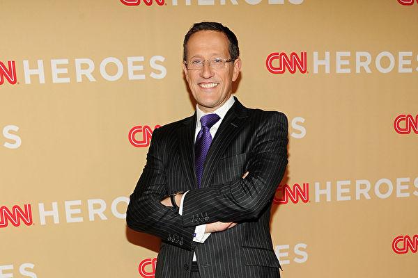 CNN主播、網絡節目《Quest Means Business》的主持人理查德·奎斯特(Richard Quest)在節目中宣佈,自己確診了中共病毒(武漢肺炎)。(Getty Images)