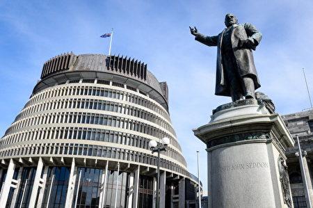 紐西蘭國會大廈。(Mark Coote/Bloomberg via Getty Images)