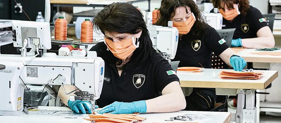林寶堅尼跨過界 生產口罩捐醫院