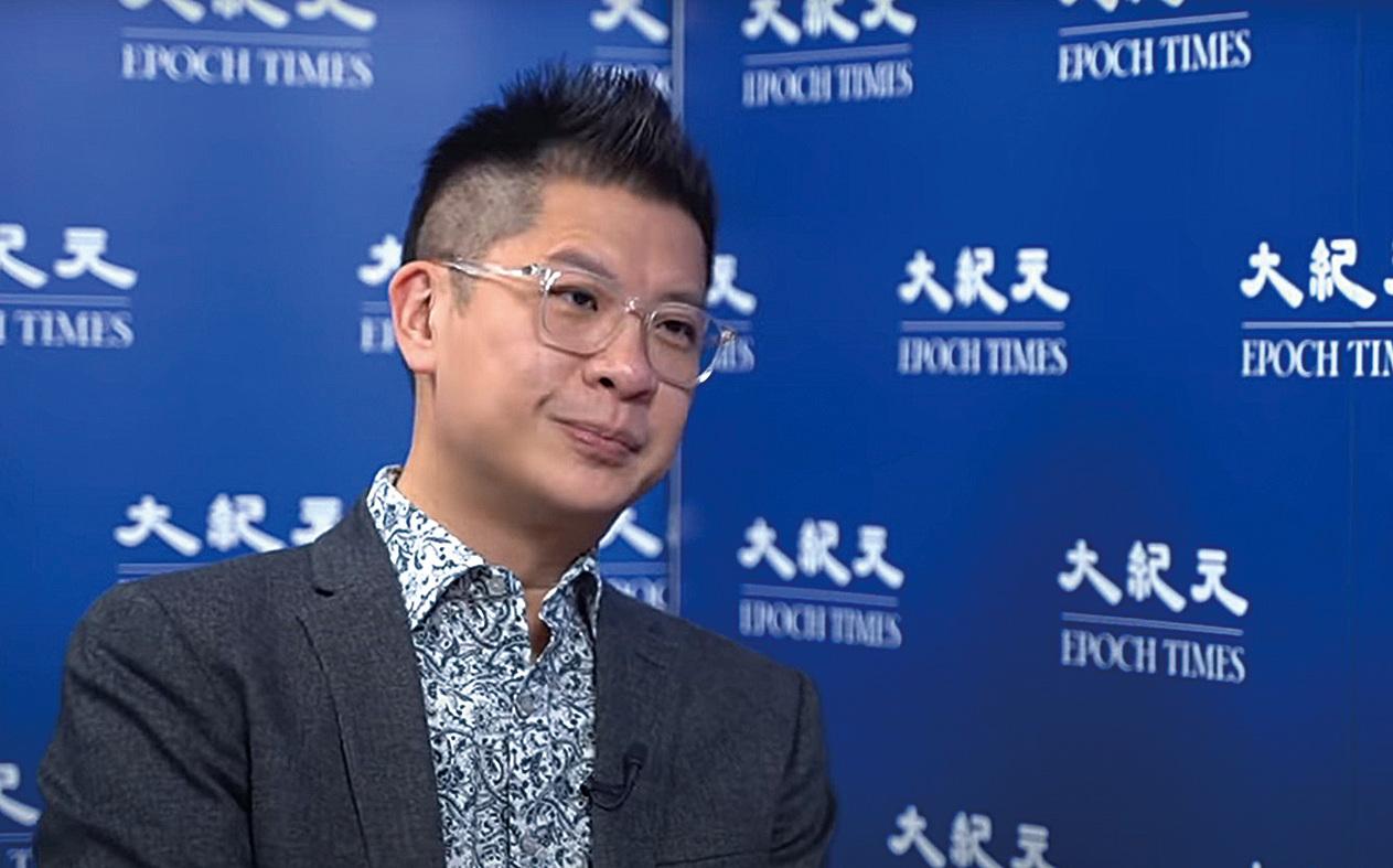 財經專欄作家李兆富。(採訪影片截圖)