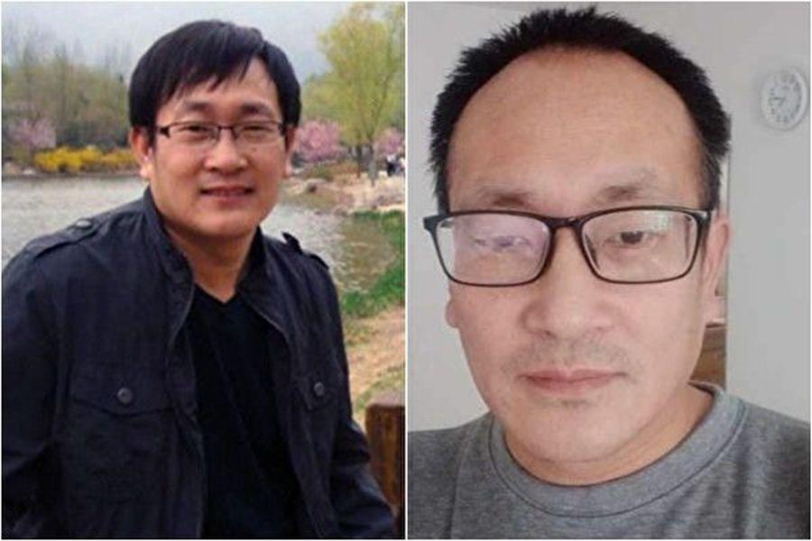 出獄後的王全璋律師與被非法判刑前的照片。(網絡圖片)