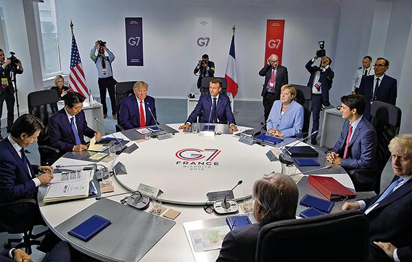 多國斥中共隱瞞疫情要求索賠。圖為2019年8月26日,七國集團峰會(G7)在法國落幕。(AFP)