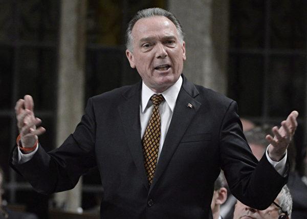 加拿大資深國會議員,國會法輪功之友主席肯特。(CP/Adrian Wyld)