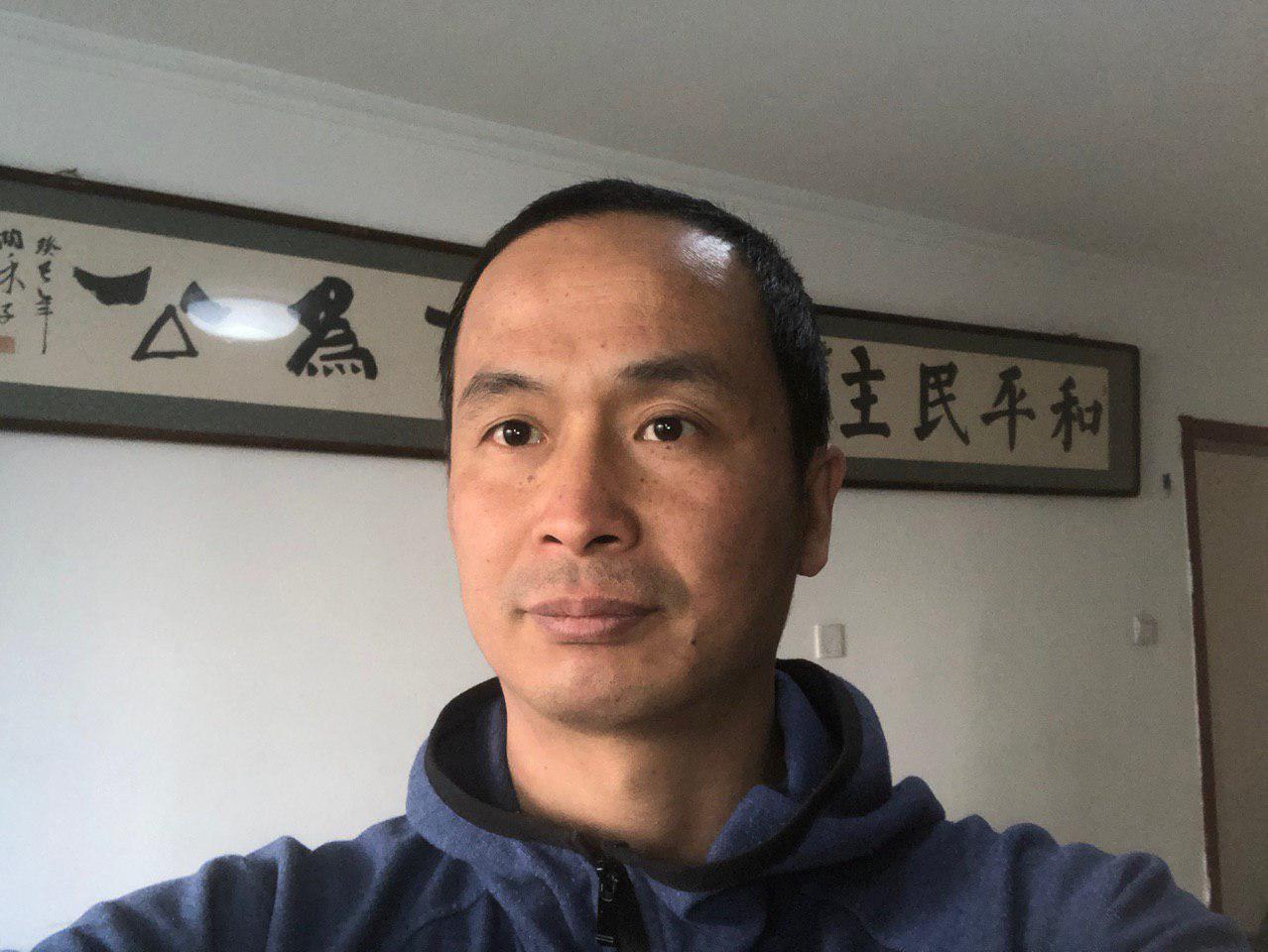 北京維權律師謝燕益讚譽法輪功4.25和平大上訪的意義。(大紀元資料室)
