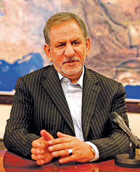 伊朗第一副總統賈漢吉里染疫。(Getty Images)