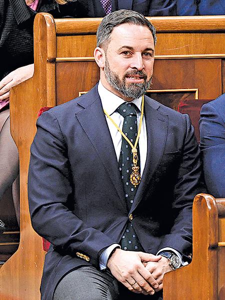 西班牙VOX 黨黨魁阿巴斯卡在譴責中共後症狀消失。(Getty Images)